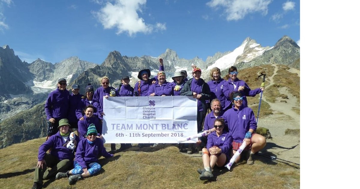 Mont Blanc Trek for Glasgow Childrens Hospital Charity